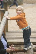 Toddler on frame